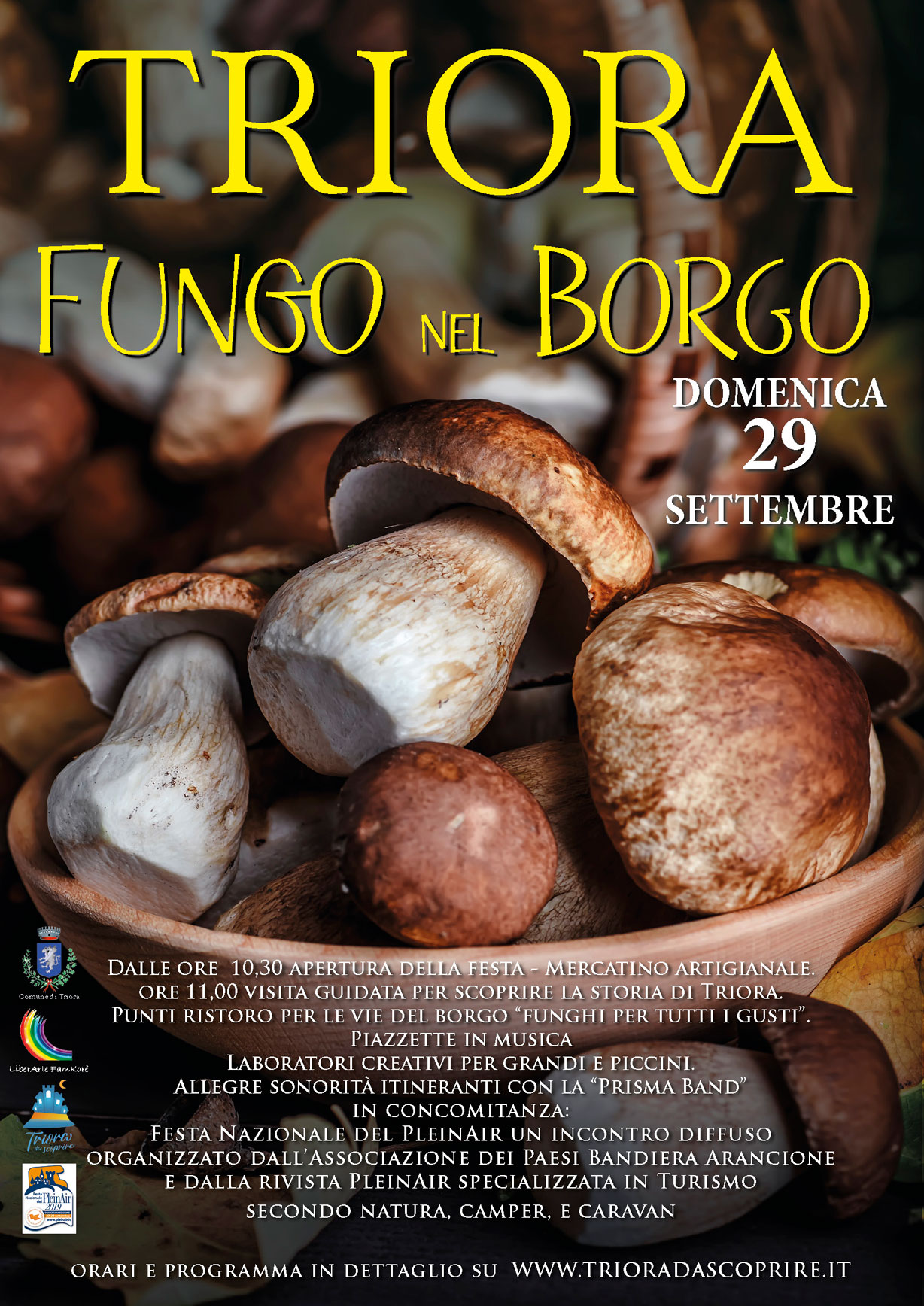 MUSHROOM FESTIVAL 29th  SEPTEMBER 2019